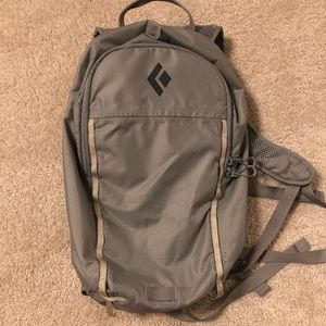 Grey black diamond backpack